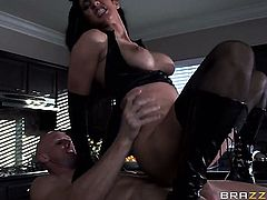 Isis Love with huge melons is curious about hard fucking with hard dicked guy Johnny Sins