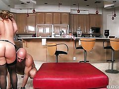 Johnny Sins gets his always hard tool eaten by Sarah Vandella