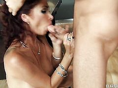 Tiffany Mynx with big boobs loves anal sex and cant say No to her hard cocked fuck buddy James Deen