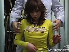 Massaging This Japanese Chicks Breasts