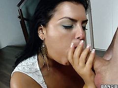 Jasmine Black with bubbly booty and hard dicked dude are horny for each other