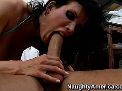 Danny Mountain uses his stiff dick to make Shay Sights with juicy tits and shaved bush happy