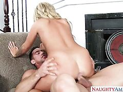 Madelyn Monroe fulfills her sexual needs with Johnny Castles rock solid tool in her back swing