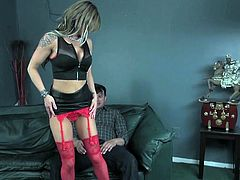 Step mom and stripper Chloe Chaos is interviewing for a job in a new strip club and while in the waiting room she runs into her husbands son