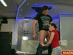 Mea gets her fine ass spanked before getting her legs spread and her tight puffy fucked.