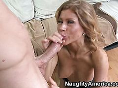 Brooklyn Lee in sexual ecstasy with hard dicked dude Jordan Ash