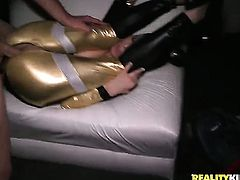 Blonde Daniela Diamond gets her mouth stretched by thick hard meat stick of Bruno
