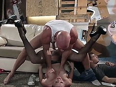 Karlie loves her husband, but she also loves fat cocks. This is where Johnny Sins comes in and fucks her roughly until she cums hard.