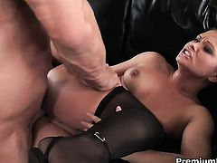 Katja Kassin gets the hole between her legs drilled by dudes hard ram rod