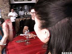 Latina Sativa Rose with bubbly booty getting satisfaction with lesbian Ann Marie Rios