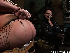 Brunette Mandy Bright with gigantic breasts and lesbian Maria Bellucci are horny for each other