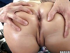 Katja Kassin gets her round ass drilled with dildo