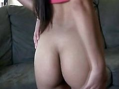 Hot Latina Beauty Layla Rose Toys Her Pussy On Couch