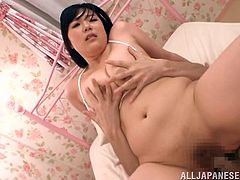 If ladies with big tits don't miss from your favorite menu, click to enjoy the lovely sight, offered by a slutty Asian bitch, blessed with enormous naughty breasts. Besides being so attractive, Kotone is also very naughty, which you can observe from her lust, expressed with so much passion. See her banging hard!