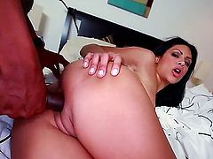 Fat black cock for this sexy milf. She loves to do doggy style and this black stud makes it happen for her while he ravishes her pussy from behind.