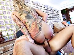Keiran Lee has unthinkable anal sex with Kayla Green with massive melons