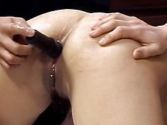 Yuki is fucked with sex toys in asshole
