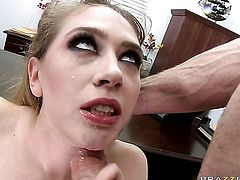 Jordan Ash drills unthinkably sexy Kagney Linn Karters beautiful face with his worm