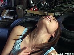 Do you find it exciting, when horny girls just crave to have their pretty faces covered with loads of cum? Slutty Riko also adores to have her big tits full of cum and playing with sex toys, such as a dildo, keeps her busy, while the horny partner ejaculates in her mouth and on her amazing breasts. Enjoy!