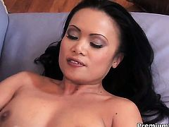 Mya Luanna does her best to make man explode in with hands