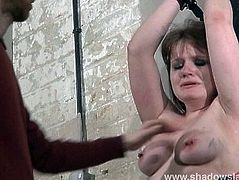 Slave Louise electro shock punished and amateur bdsm of chubby private sub
