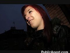 Dirty talking makes sexy redhead super wet