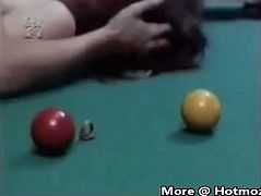 StepMom and Daughter on Pool Table