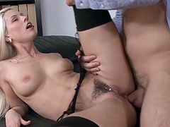 Visit official Pix And Video's HomepageTime for a nasty hard fuck at the office for busty blonde bimbo with trimmed pussy ready for hardcore sex moments