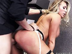Samantha Saint is naughty in the office