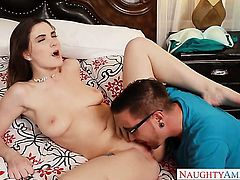 Molly Jane sits on a big dick