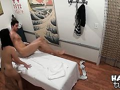Oriental Evelyn Lin spends time fucking jerking tool with her hands
