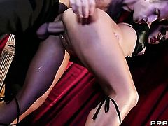 Oriental Lana Violet is out of control with Danny D s pulsating cock in her bush