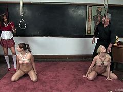 samantha and michelle learn rope bondage