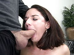 Sheena Ryder makes man happy by blowing his dick