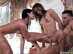 India Summer, Sara Luvv and Clover threesome