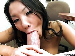 Oriental Asa Akira makes her sex fantasies a come to life in cumshot action