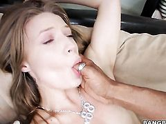 Alyssa Branch rides a big dick