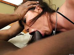 Asian Ava Devine shows her love for meat stick sucking in blowjob action with Jonni Darkko