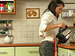 paradise films banging my gf in the kitchen