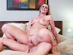 Kris Slater is horny as hell and cant wait any longer to pound lovely Tanya Tates honeypot