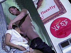 Sexy dressed slutty babe Asa Akira with firm boobs gets her hot asian pussy fucked as hard as possible in a food bus. Nothing can stop beefy guy from drilling her tight exotic hole.