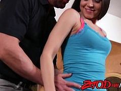 Tight teen brunette Tiffany Star takes a big cock from sugar daddy