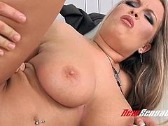 Lucky dude fucks splendid big boobs and fantastic ass hole of gorgeous milf Jessica Moore