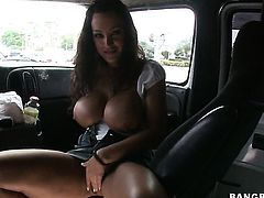 Attractive temptress Lisa Ann with phat butt is out of control with man goo all over her face