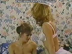 Vintage sex tube video featuring Karen Summer, Nina Hartley