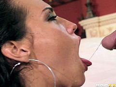 Good looking brunette Kelsi Monroe is a natural born cock sucker. Babe with with beautiful brown eyes suck it non-stop indoors and outside. Watch her give blow job to lucky Tony Rubino.