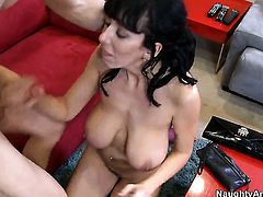 Alia Janine with big breasts enjoys sex with her bang buddy Danny Wylde too much to stop