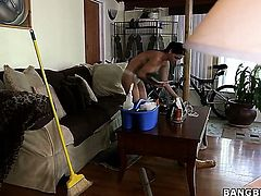 Huge tits Latina maid gets fucked!