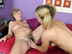 Blonde Salome is in heaven doing it with hot lesbian Doris