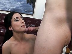 Luscious Lopez sucks a cock